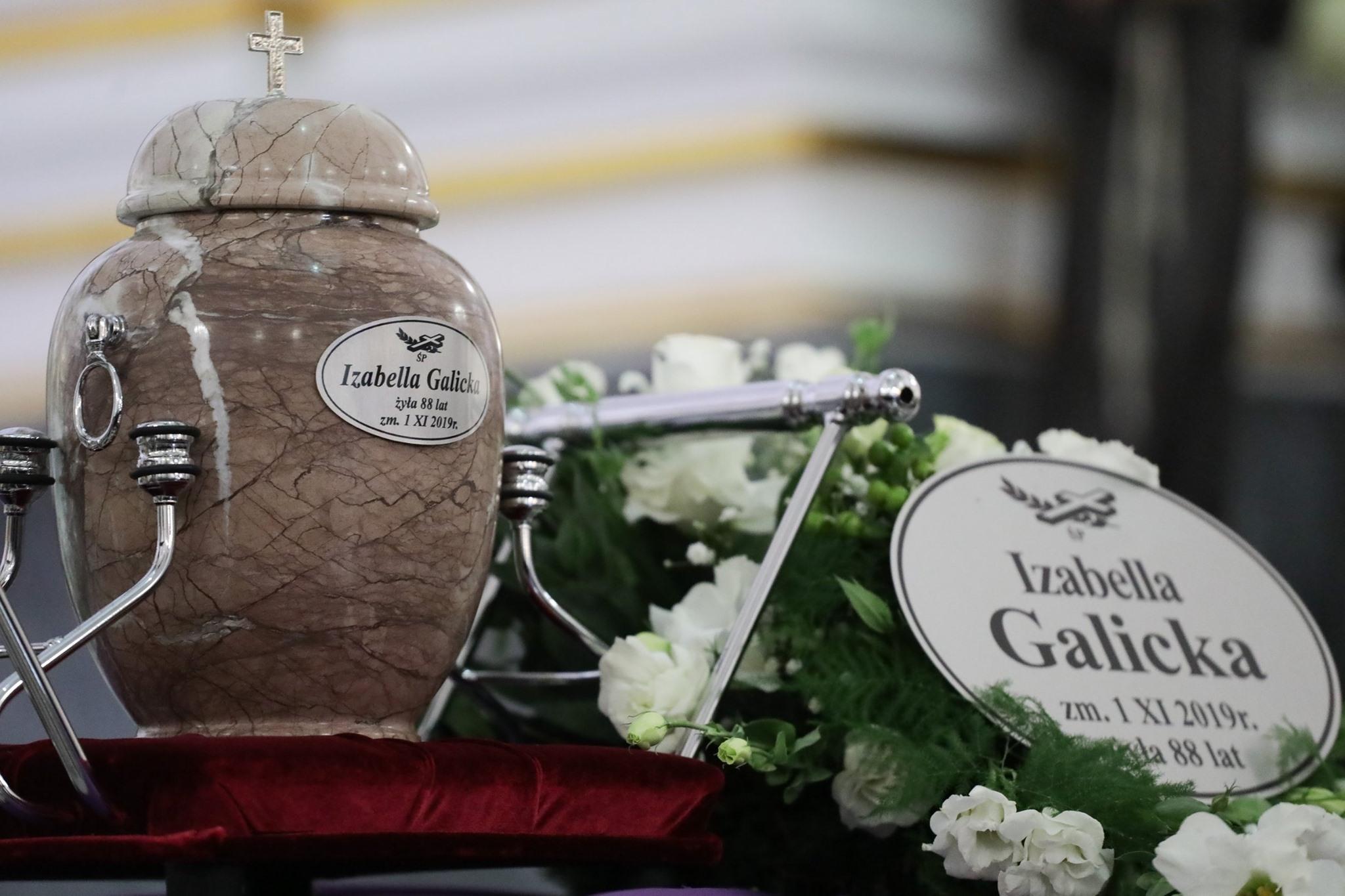 Uroczystości pogrzebowe śp. Izabelli Galickiej
