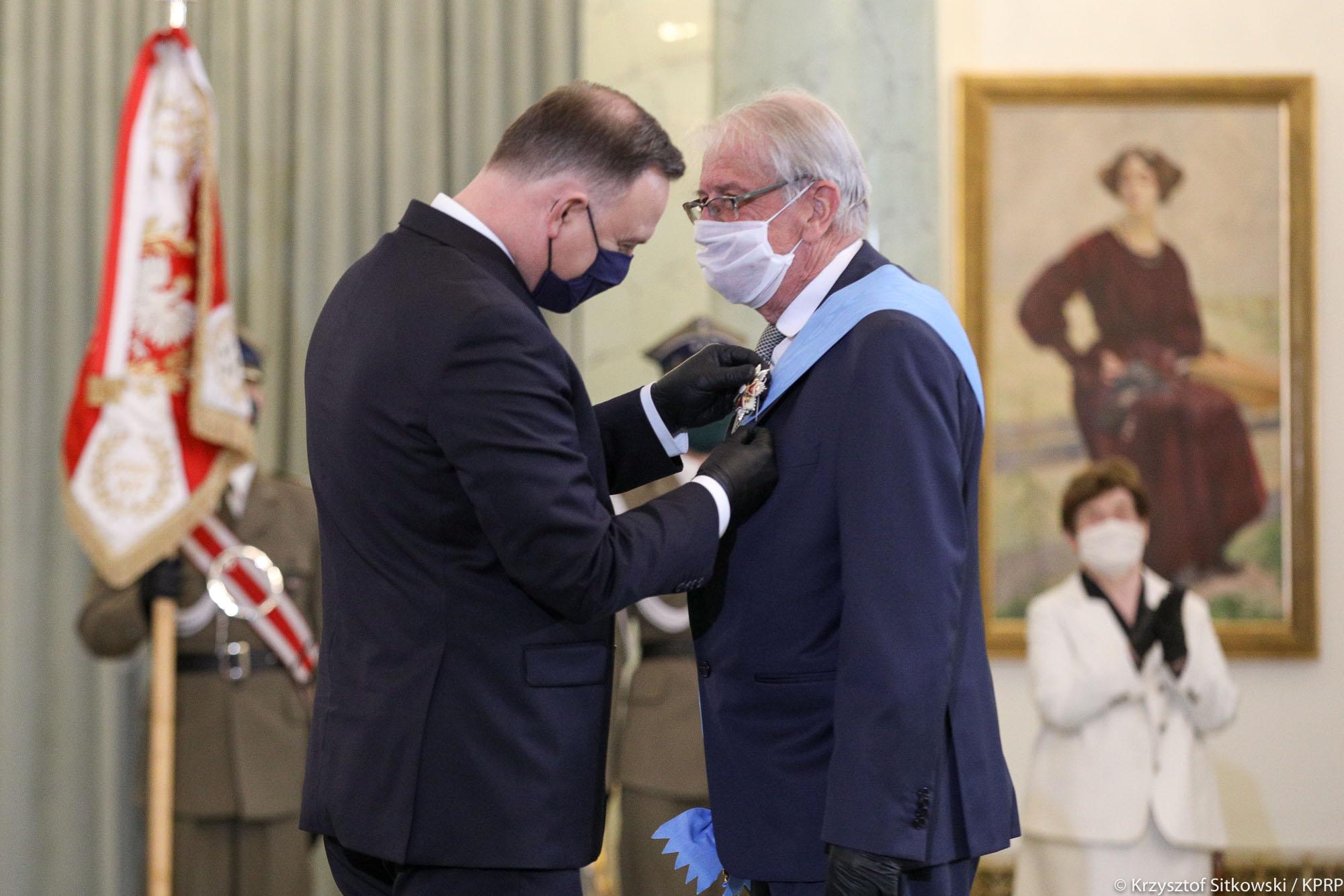 Profesor Wojciech Roszkowski odznaczony Orderem Orła Białego